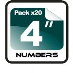 "4"" RACE NUMBERS - 20 PACK"